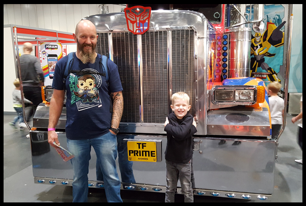 Visiting Optimus Prime at Kidtropolis