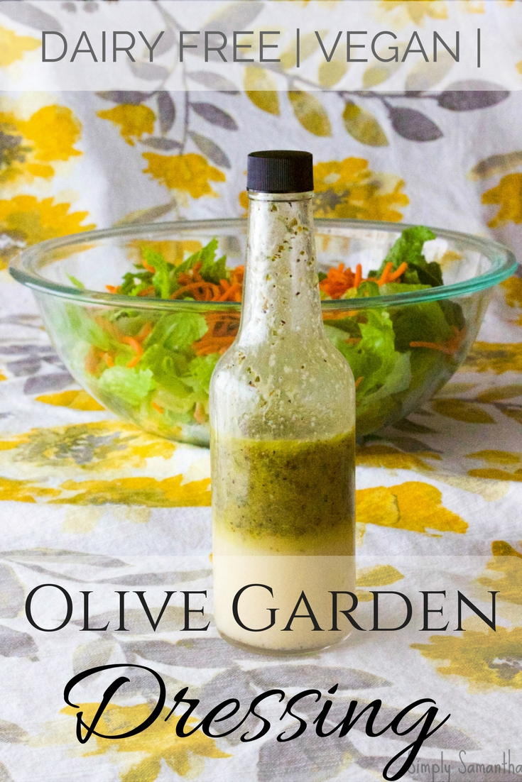 the dressing settles quickly hence why it looks separated in this photo - Olive Garden Vegan