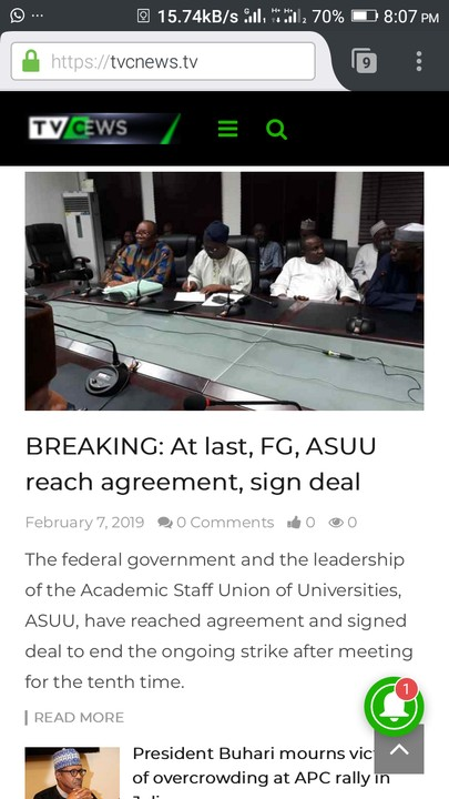 ASUU And FG Sign Agreement To Call Off Strike