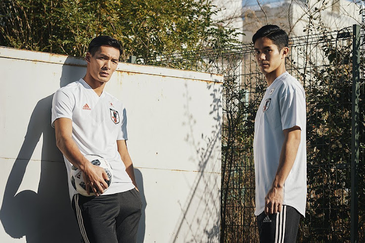 22c531580 The new Adidas Japan 2018 World Cup away kit introduces an understated  design to complement the dark blue home uniform.