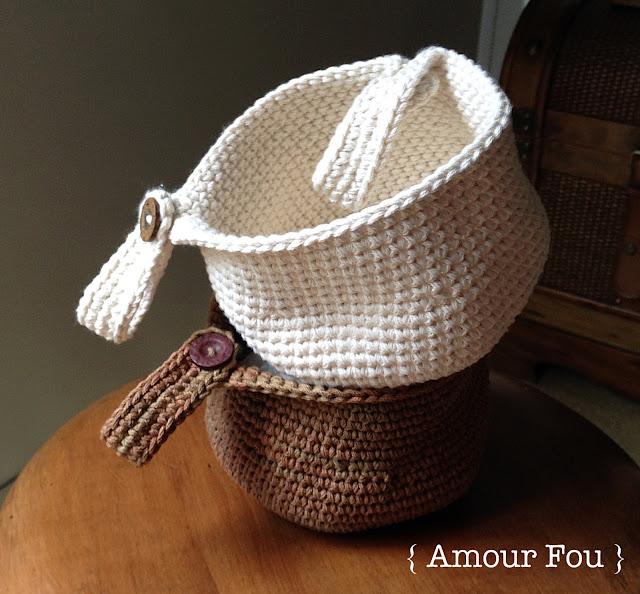 { Amour Fou | Crochet }: { Crochet basket for kids' bike...}