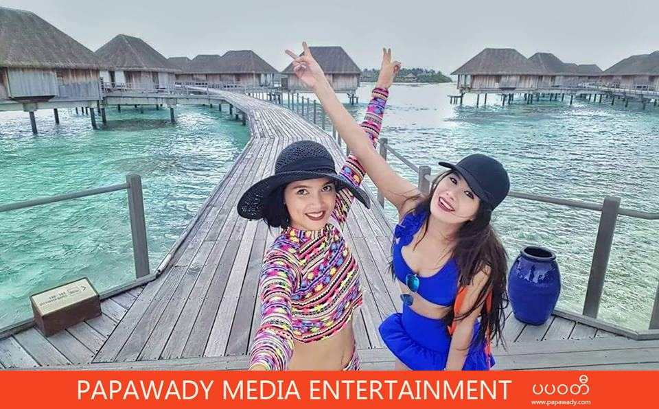 Aye Myat Thu Happy Vacation In Maldives