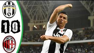 فيديو ملخص مباراة يوفنتوس - ميلان 1-0 كاس السوبر الايطالي 16-01-2019
