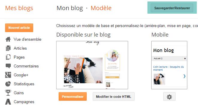 Modifier les textes et titres des articles sur Blogger