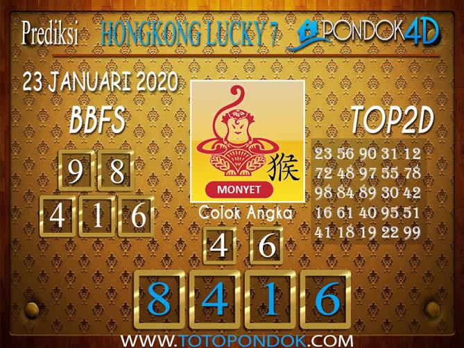 Prediksi Togel HONGKONG LUCKY7 PONDOK4D 23 JANUARI 2020