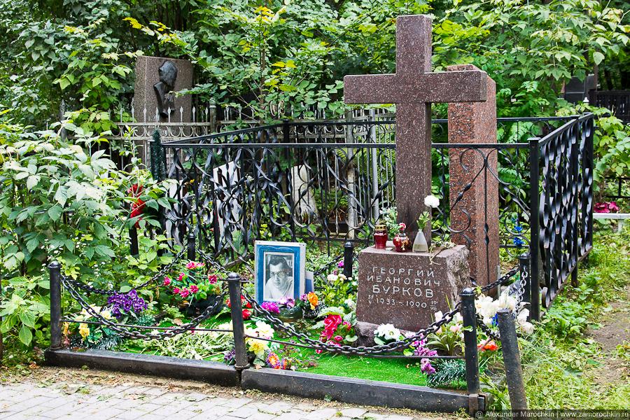 Могила Георгия Буркова на Ваганьковском кладбище
