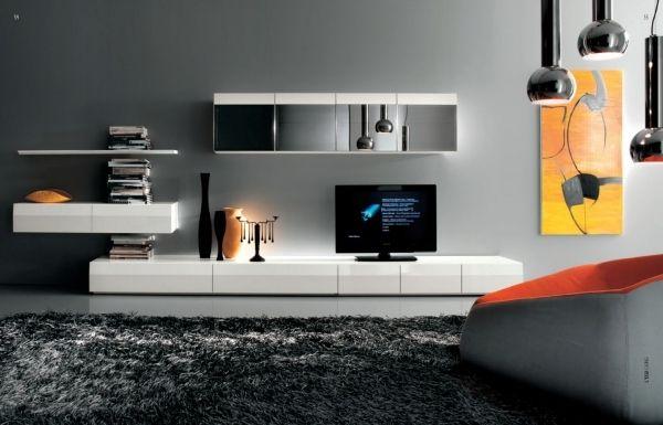Salas modernas con muebles de tv colores en casa for Ocio muebles