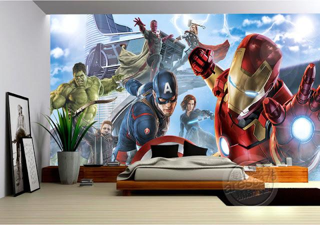 Superhero Wall Mural  Avengers