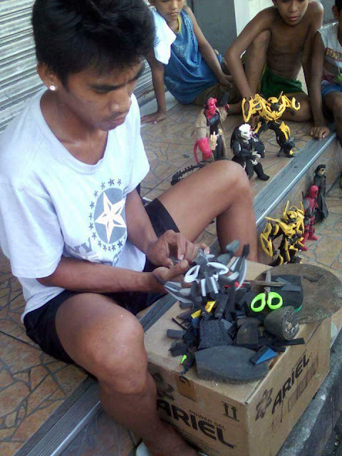 World Class Talent! Pinoy Creates Toys from Rubber Scraps and The Results Are Quite Impressive