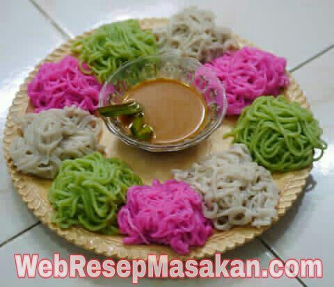 Putu Mayang, Resep kue putu mayang, Cara membuat kue putu mayang,