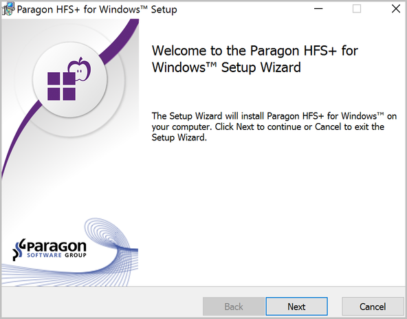 full read and write access to Apple 's HFS+ formatted drive on windows using Paragon HFS+
