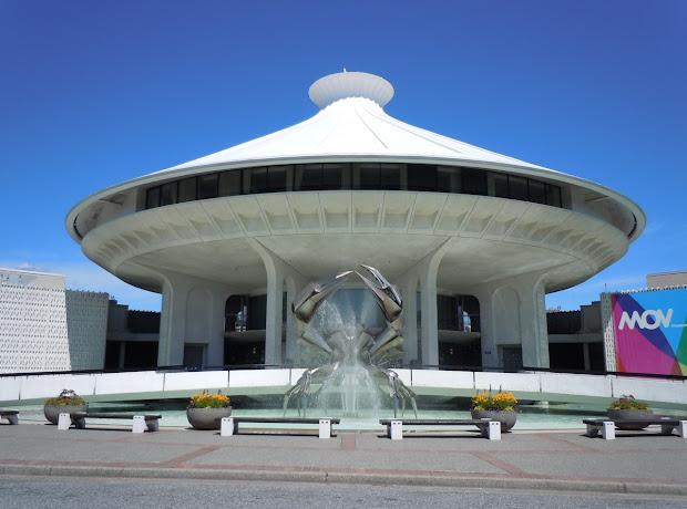 Vancouver Museum Crab Fountain Sculpture