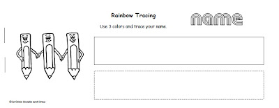 Learn to write your name booklet rainbow coloring worksheet
