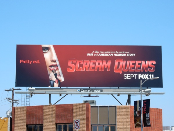 Scream Queens series lipstick knife billboard