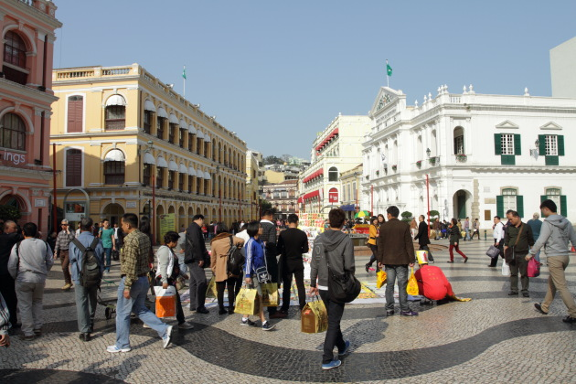 Busy Senado Square of Macau