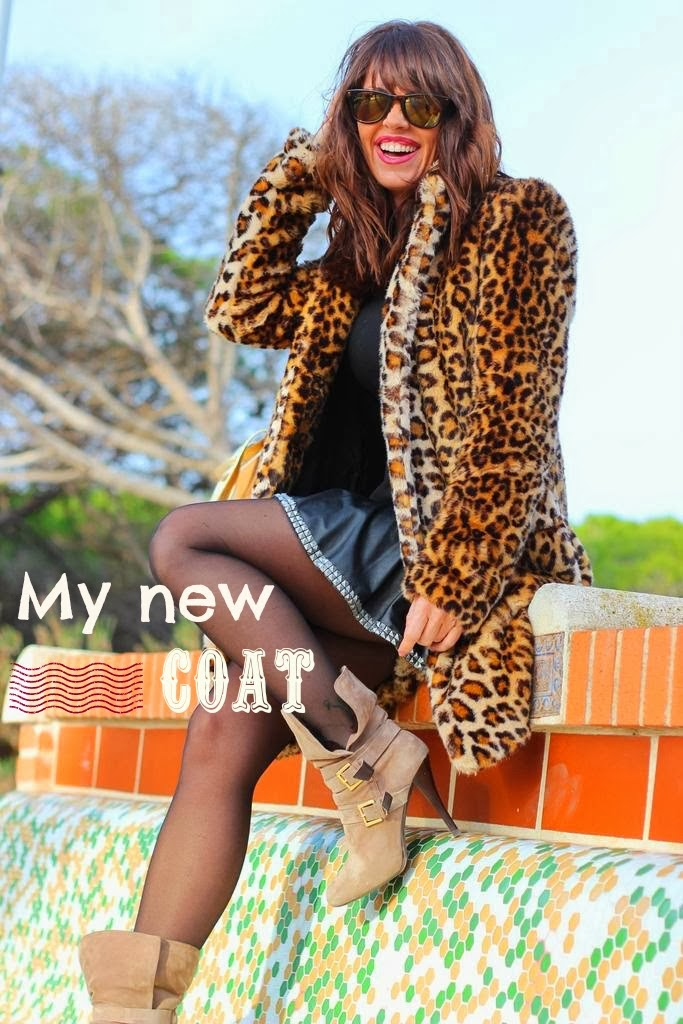 Animal print coat - Zara Trafaluc - Winter 2013