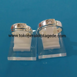 disain simple couple ring silver