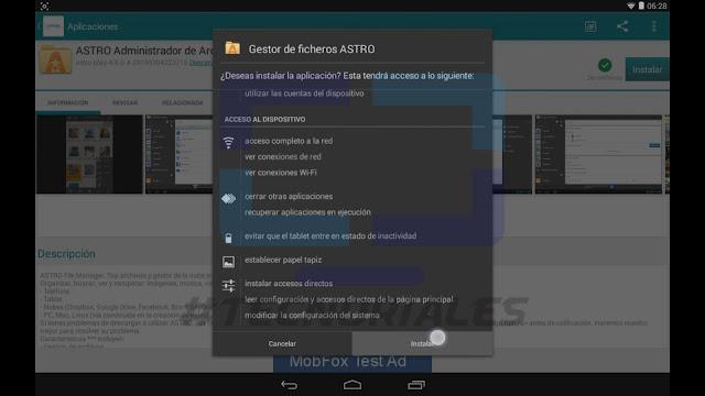 Instalar Administrador de archivos en tablet canaima.