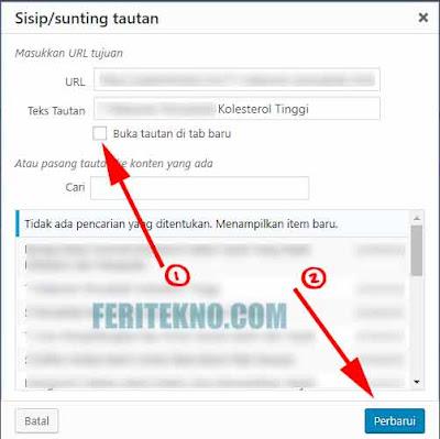 Cara Membuat Link di Klik Menjadi New Tab Pada WordPress 6