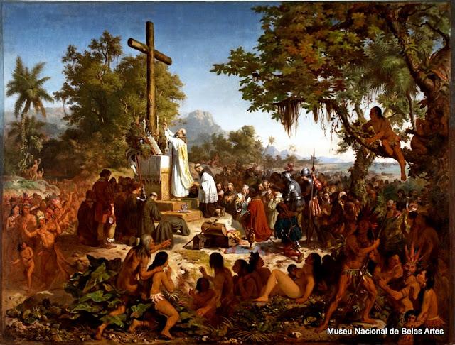 """""""A primeira Missa no Brasil"""", de Victor Meirelles"""