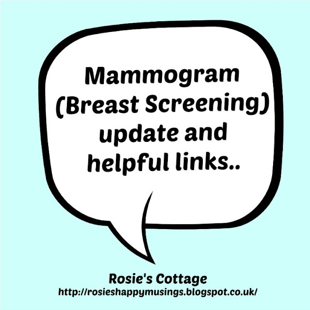 Mammogram update and helpful links