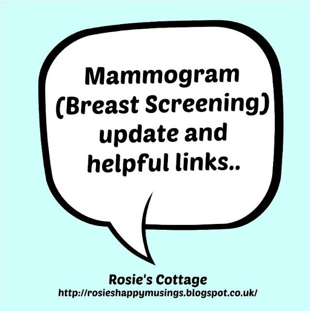 Mammogram update and helpful links