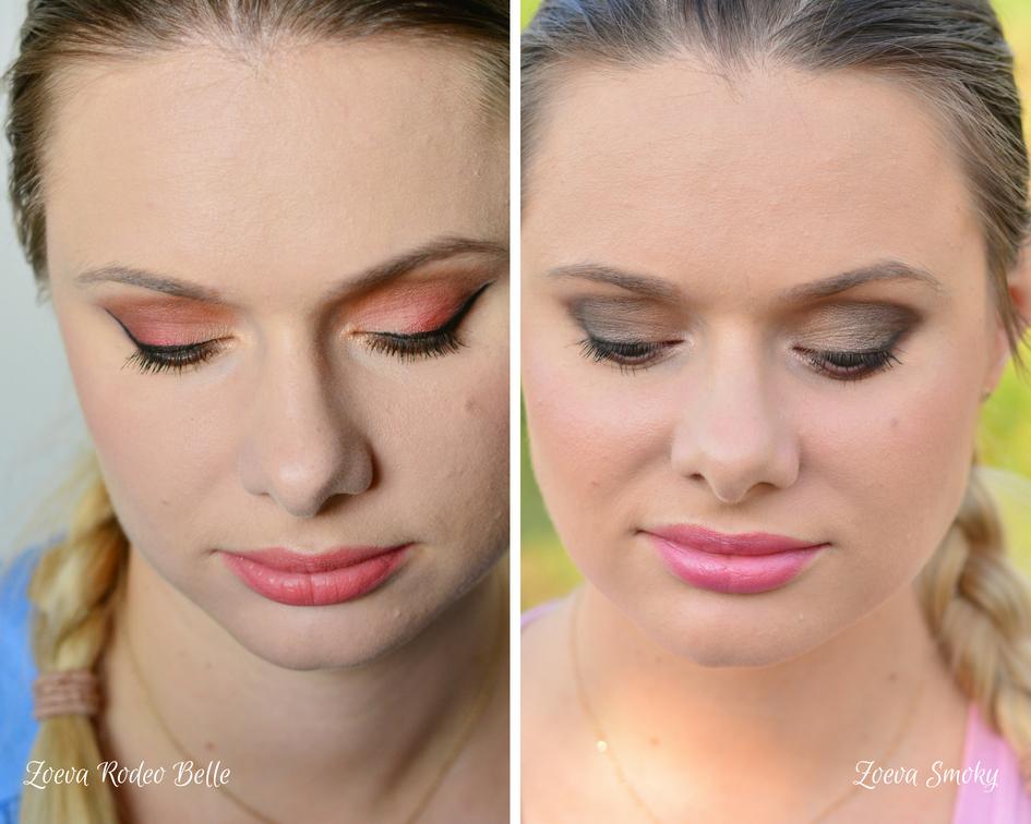 przykładowy makijaż paletami Zoeva