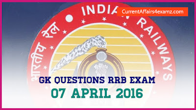 GK Questions from Railway NTPC Exam 2016