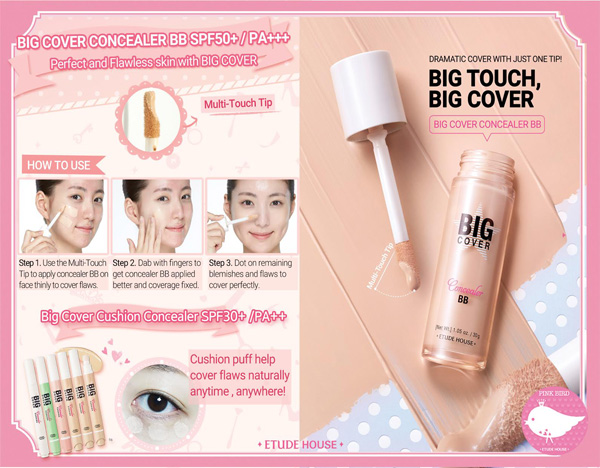 etude house, korean beauty, colour correcting, foundation review, asian beauty, big cover bb foundation, big cover cushion concealer, makeup review