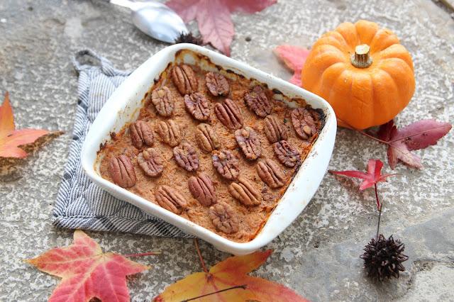 Cuillère et saladier : Purée patate douce-courge noix de pécan (sweet potato casserole revisitée)