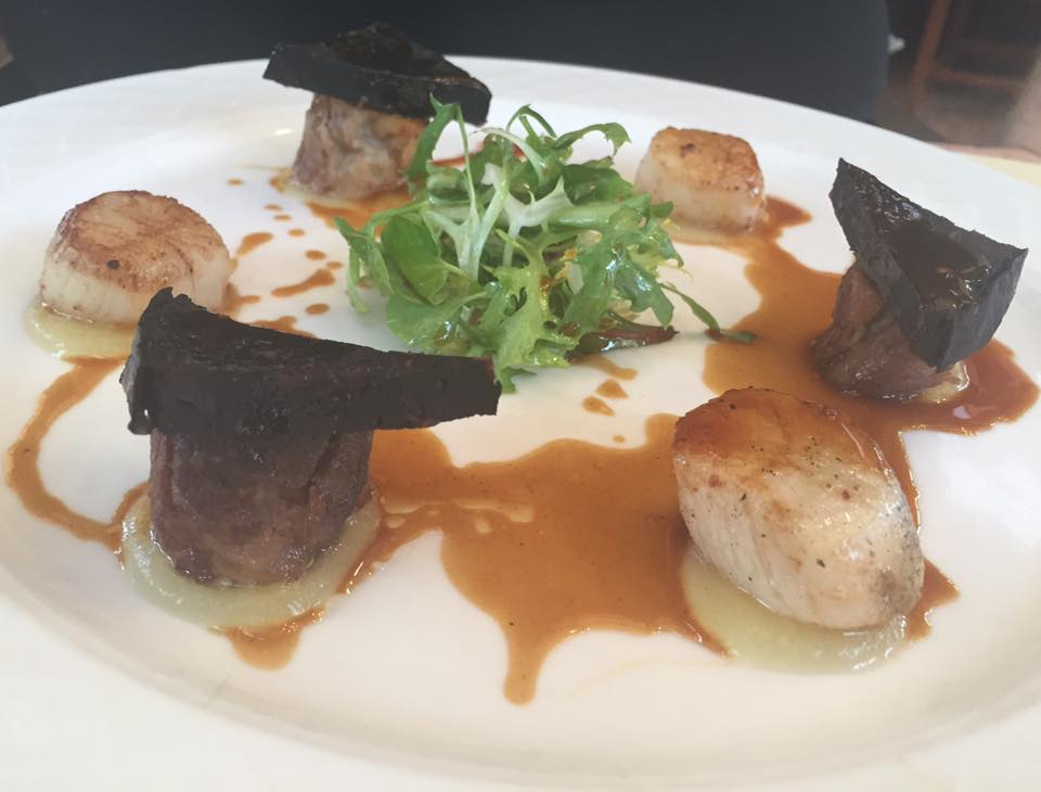 Crab and Lobster Restaurant, Thirsk - Scallop and Black Pudding Starter