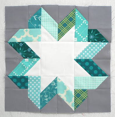Ribbon Star quilt block tutorial from Freshly Pieced