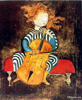 """Girl With Cello"" Print by Graciela Rodo Boulanger"