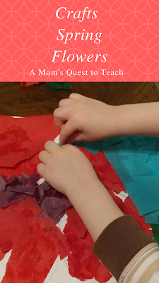 Tissue paper, kids crafts, preschool