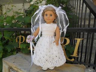 American girl doll bride.