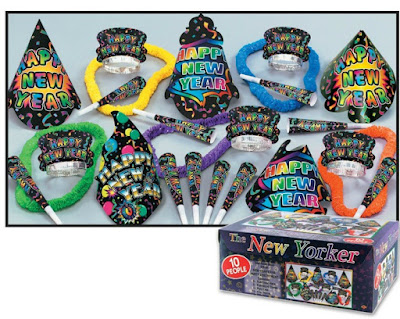 New Year's Eve party supplies to have a celebration with your troop.