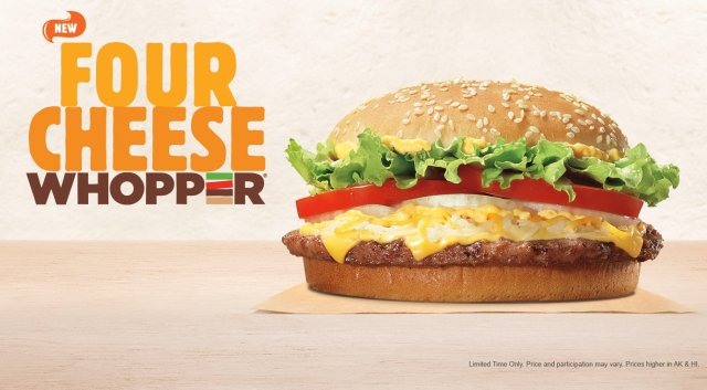 Burger King Comes Up With New Four Cheese Whopper