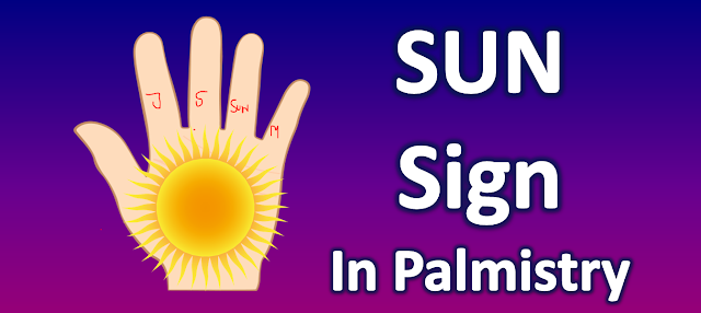 sun Sign in palmistry give respect and money -Sun Sign in palmistry