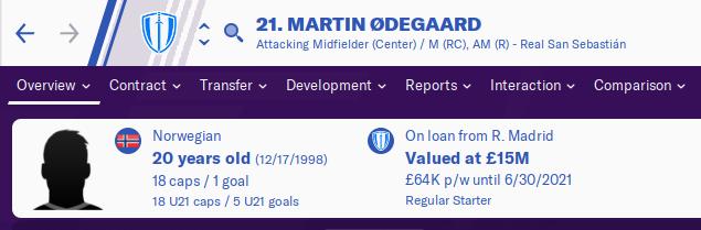 FM20 Wonderkid Analysis - Martin Odegaard