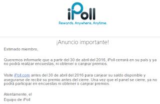 iPoll anuncio importante