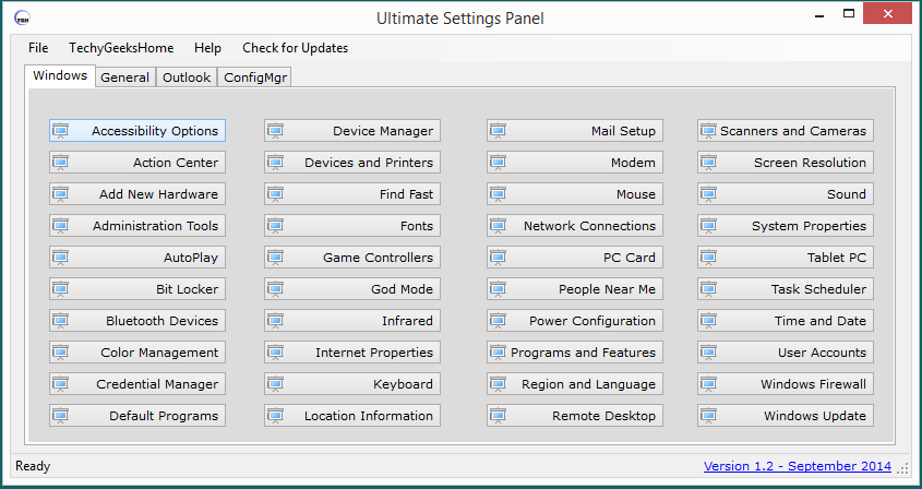 Ultimate Settings Panel - Version 1.2 Released 1