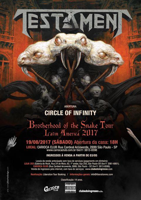 Testament volta ao Brasil com a turnê do novo álbum