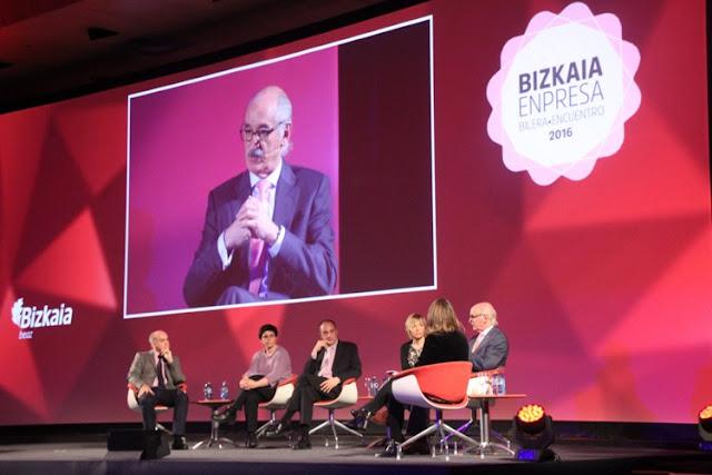 Urko Urbizu en el encuentro Bizkaia Empresa 2016