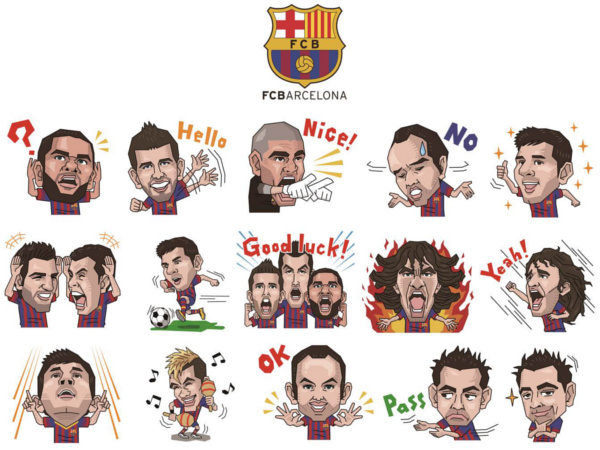 Line FC Barcelona Original Stickers