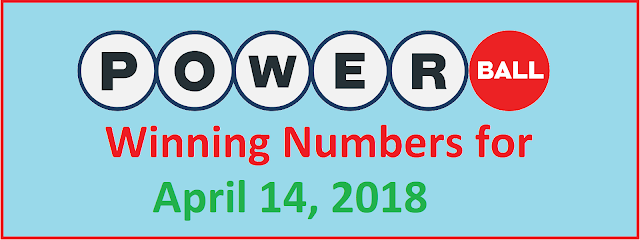 PowerBall Winning Numbers for Saturday, 14 April 2018