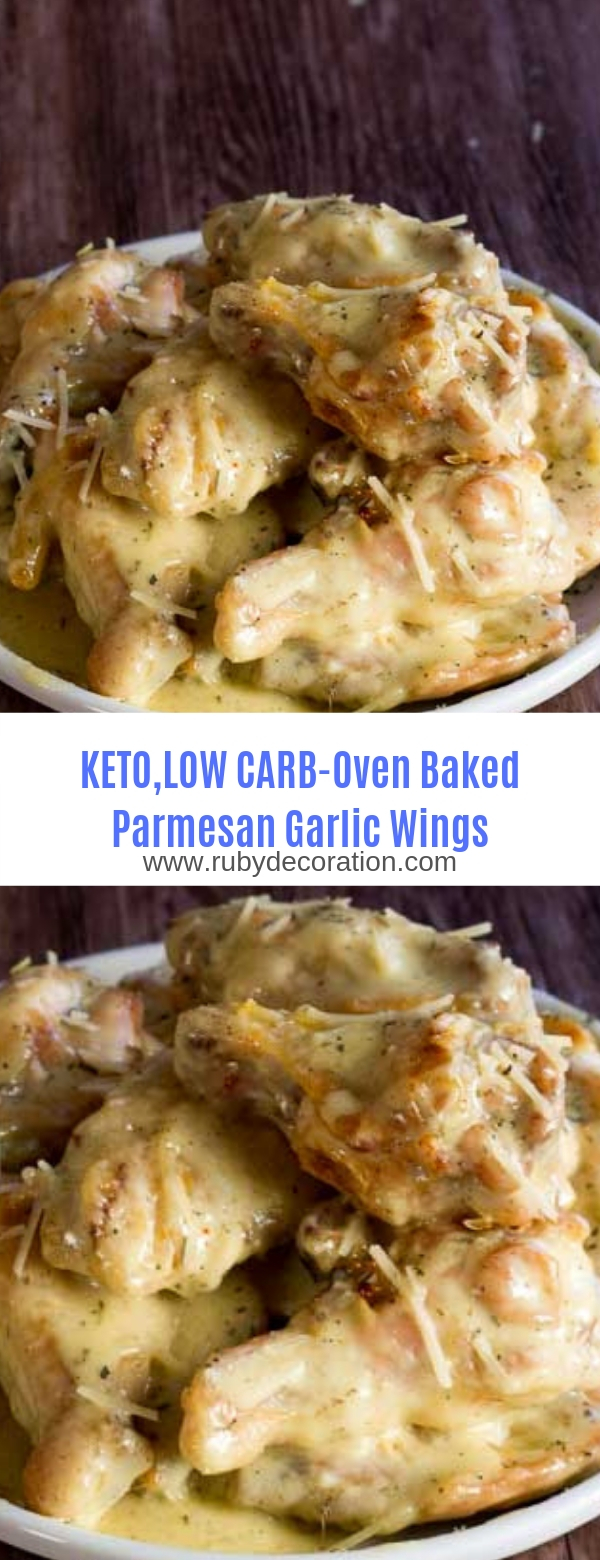 Keto,Low Carb Oven Baked Parmesan Garlic Wings