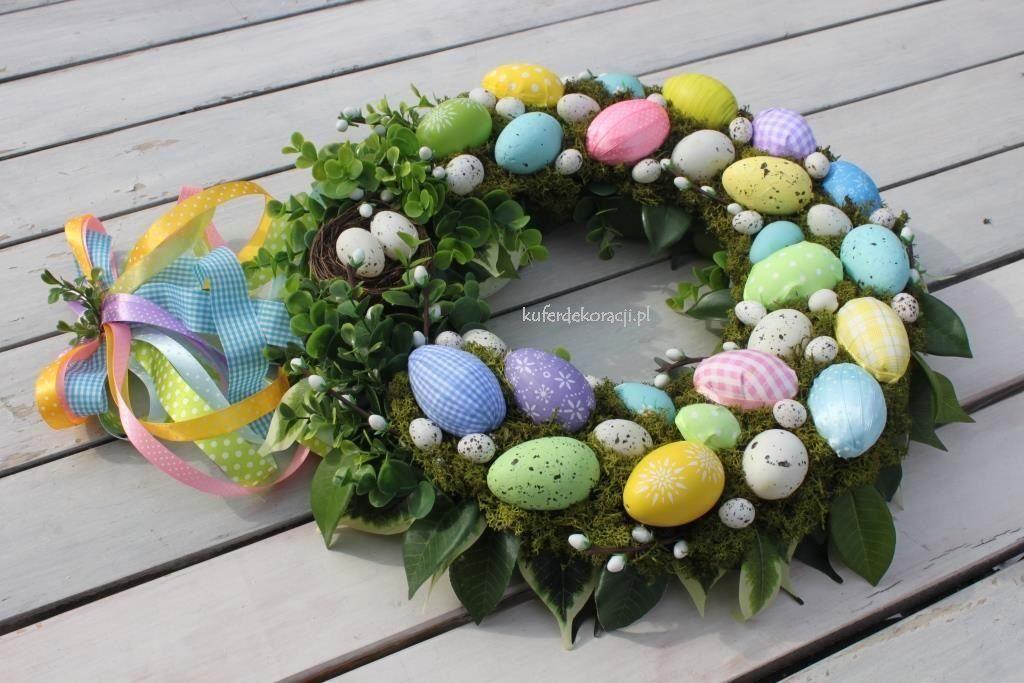 wianek wielkanocny diy z jajkami