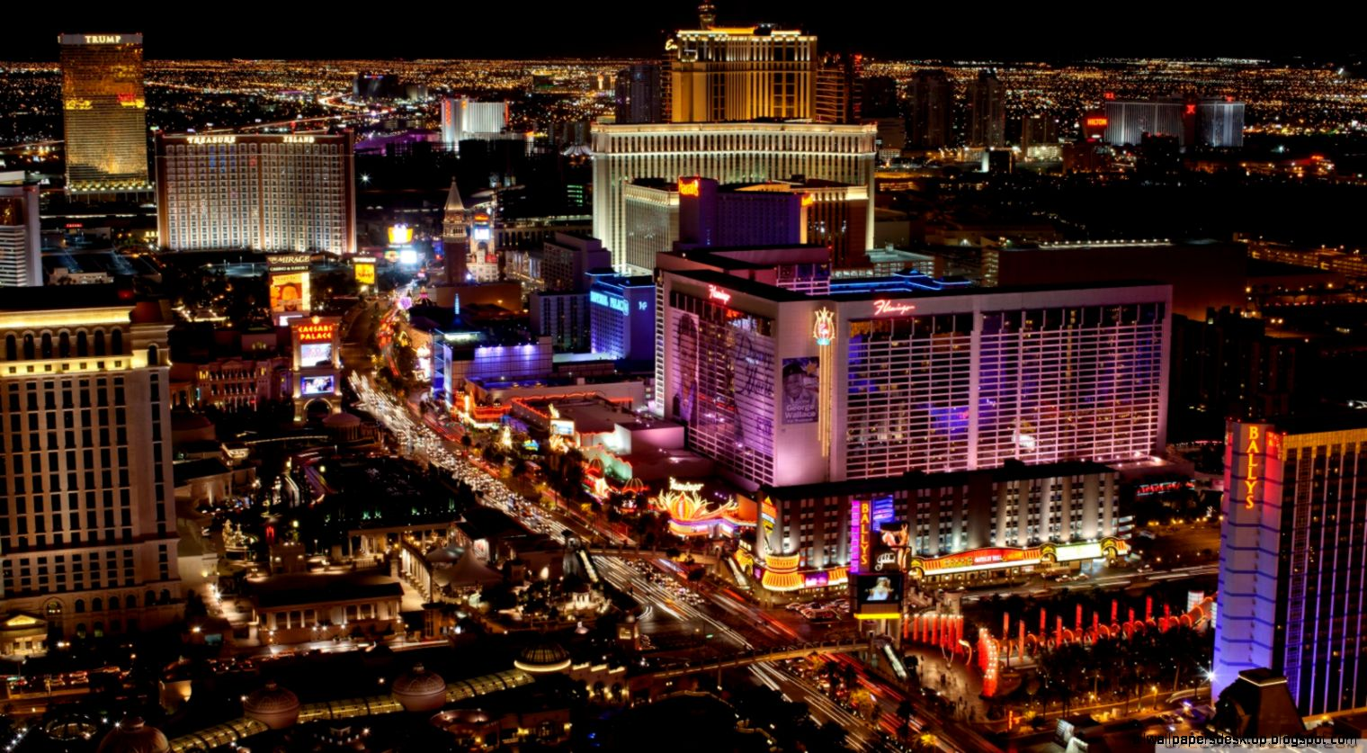 Las Vegas Strip Night Hd Wallpaper All Wallpapers Desktop