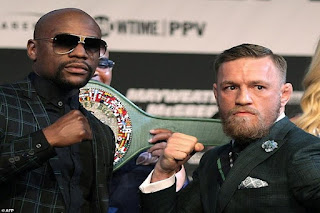 Watch the fight Sunday 27-8-2017 Floyd Mayweather Jr vs. Conor McGregor