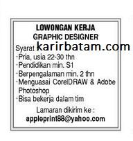 Lowongan kerja PT. Apple Print Indonesia